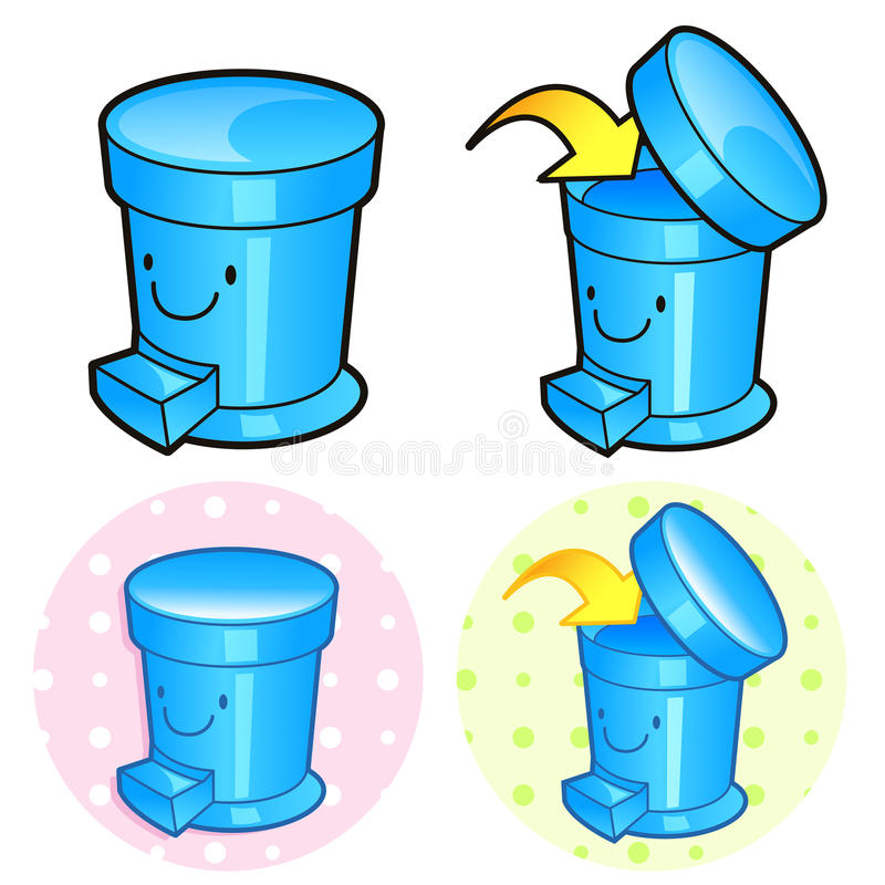 Download Various Styles Of Wastebasket Sets. Household Items Vector Icon Stock Illustration - Illustration of brit, business: 30498466