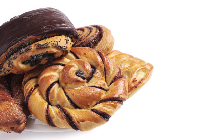 Various sweet buns royalty free stock images