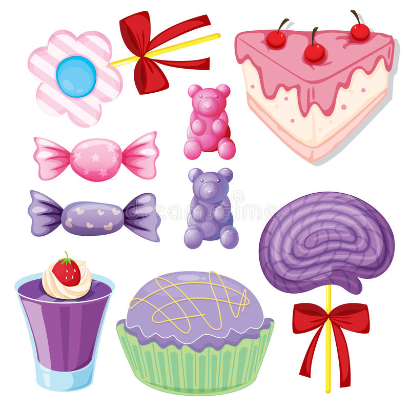 Download Various sweets stock illustration. Illustration of cute - 27898260