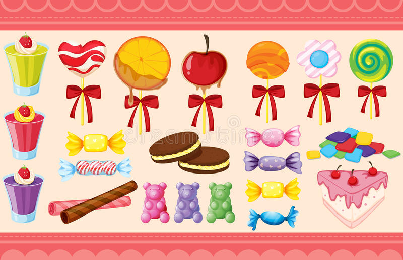 Download Various Sweets And Wallaper Stock Illustration - Image: 28071566