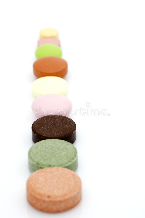 Various tablets in row royalty free stock photography