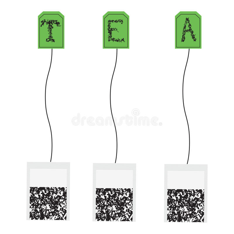 Various teabags royalty free stock photo