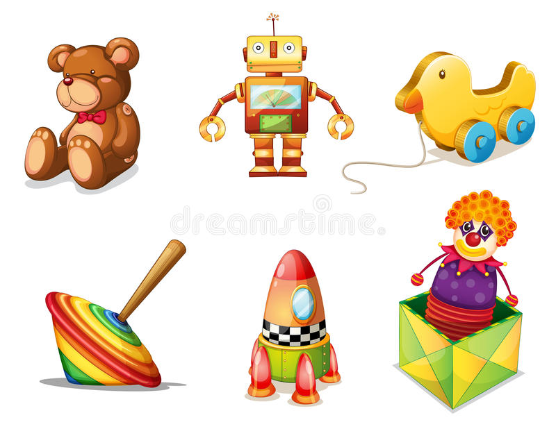 Various toys royalty free illustration