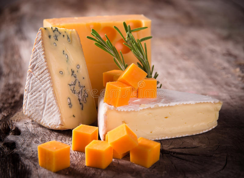 Various types of cheese royalty free stock photography