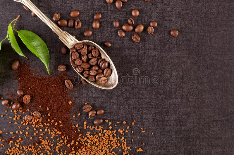 Various types of coffee. stock images