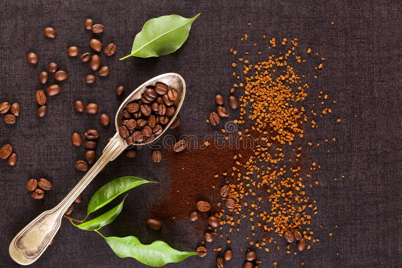 Various types of coffee. royalty free stock images