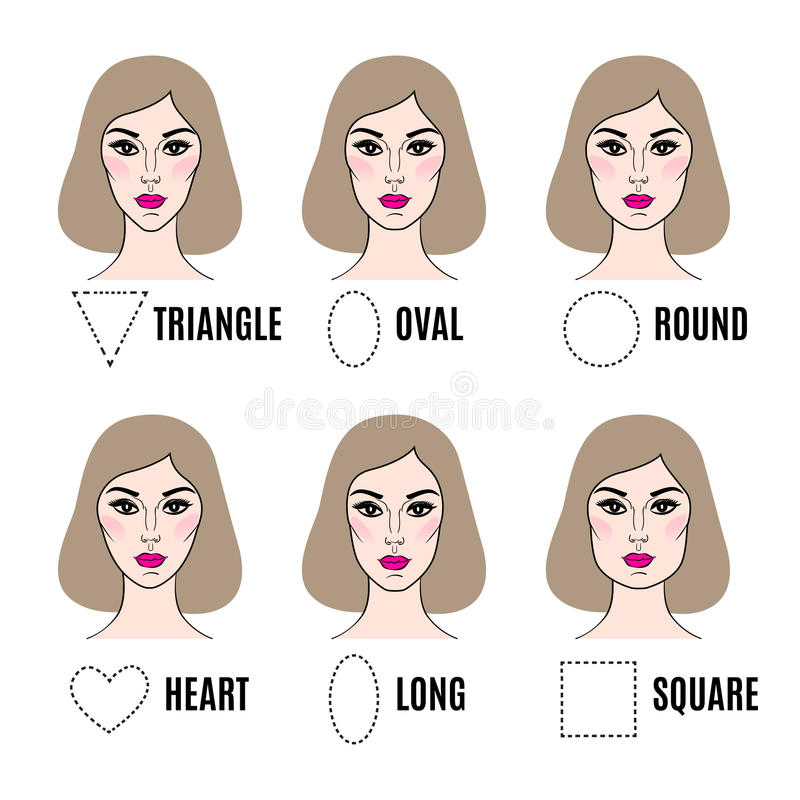 Various types of female faces set of different face shapes stock download various types of female faces set of different face shapes stock vector urmus Image collections