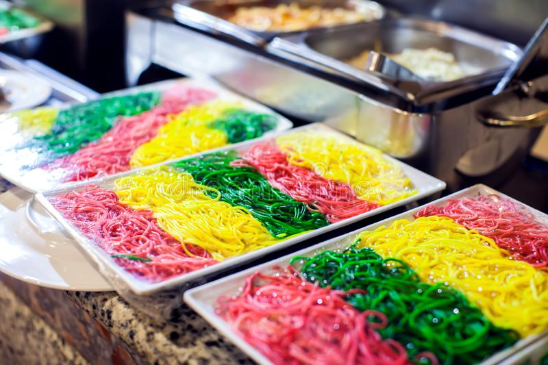Various types of pasta. Italian cuisine. Food concept royalty free stock photos