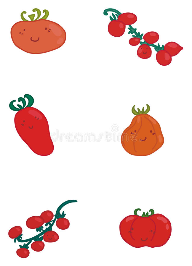 Various types of tomatoes stock photography