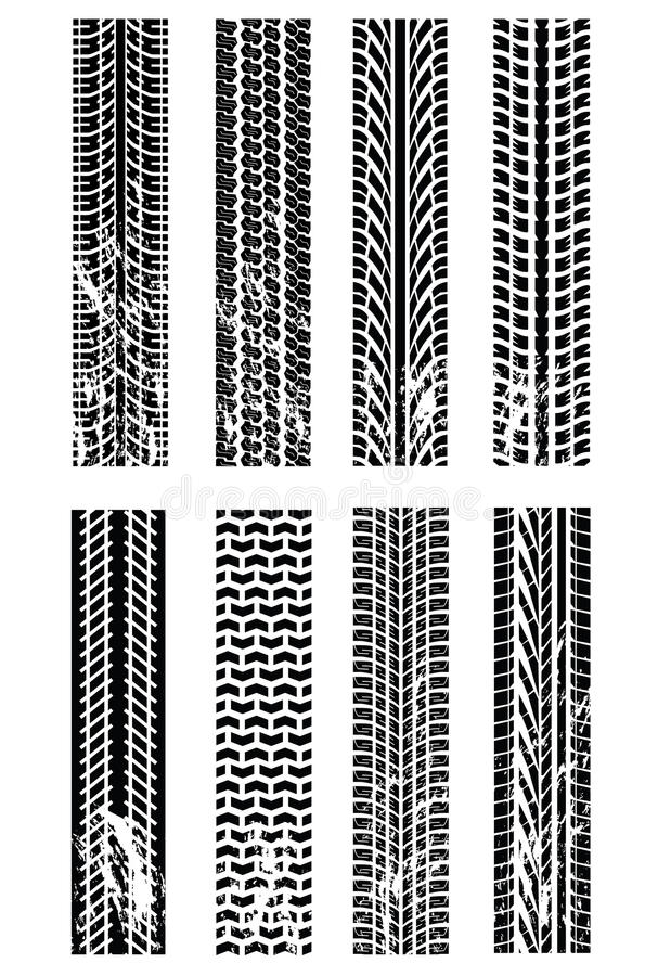 Download Various tyre tracks stock vector. Image of painting, element - 10068793