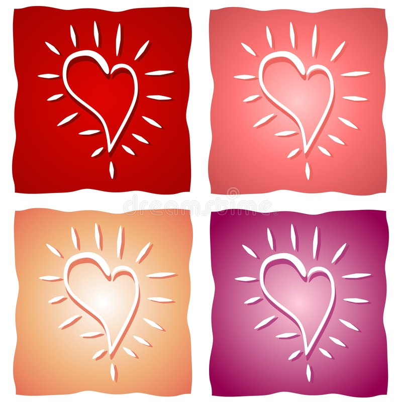 Various Valentine Heart Backgrounds vector illustration