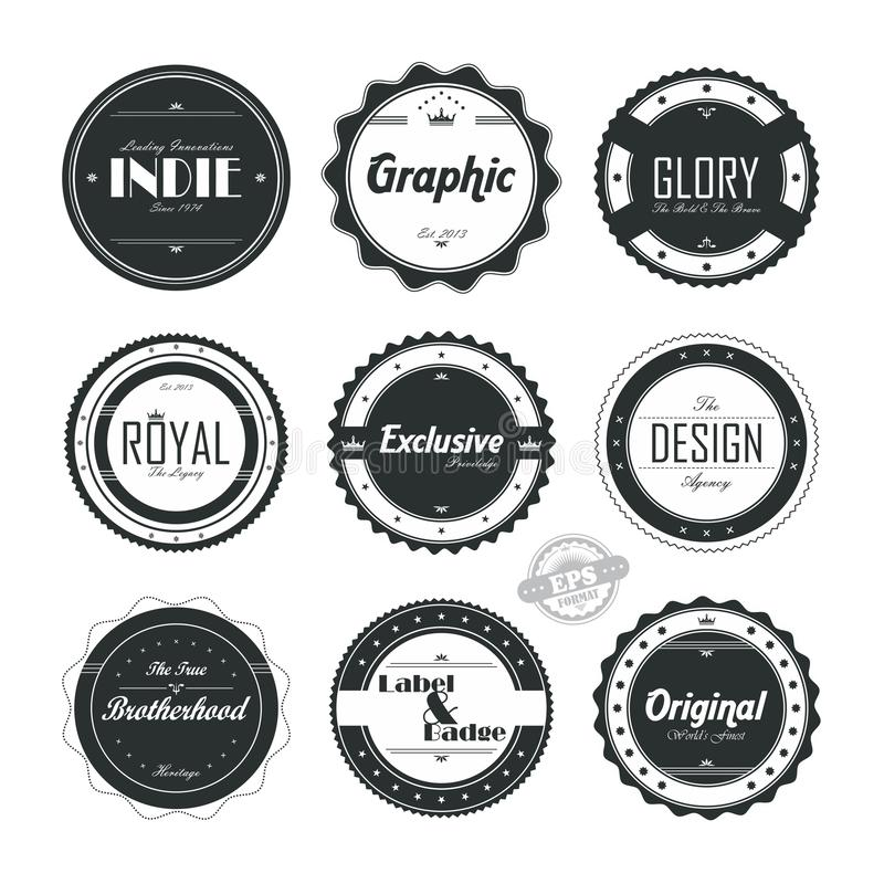 Various vintage badge royalty free stock photos