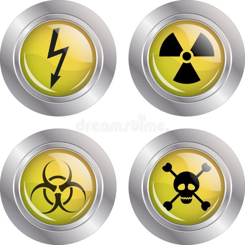 Various warning signs vector illustration