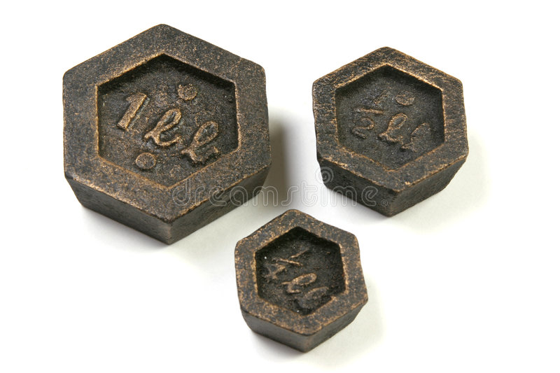 Download Various weights isolated stock photo. Image of geometric - 516268