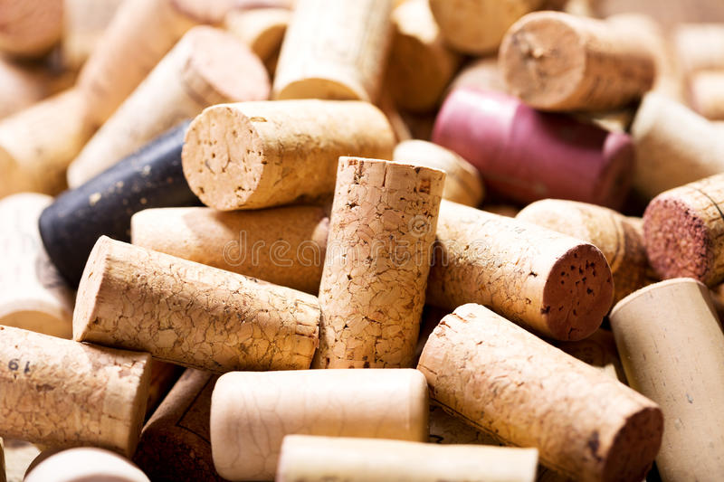 Various wine corks stock photography