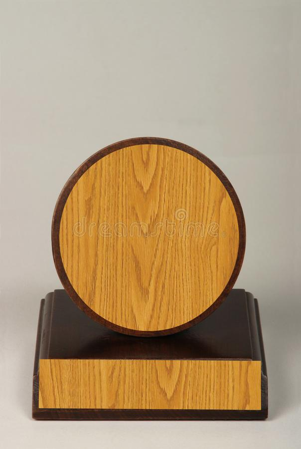 Various wood and metal plates for championships, competitions, souvenirs and special occasions. Reward in specially crafted box royalty free stock images