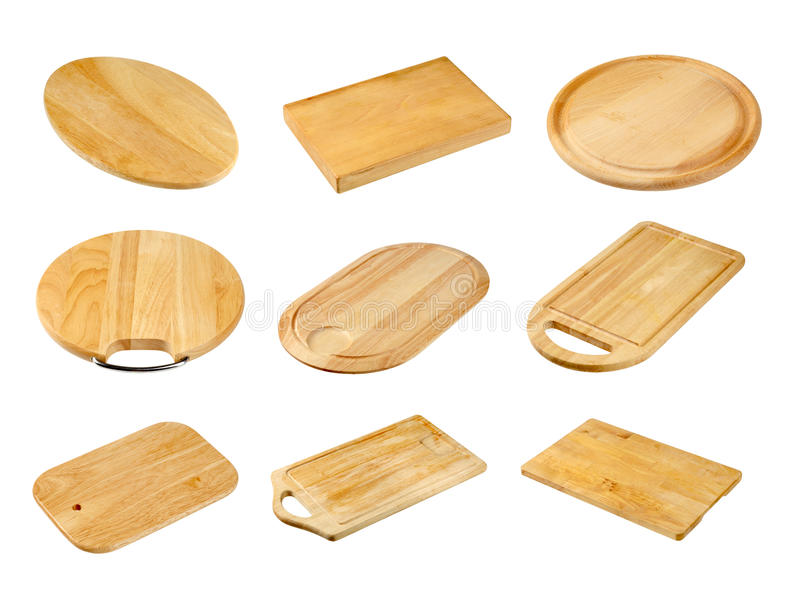 Various wooden cutting boards royalty free stock image