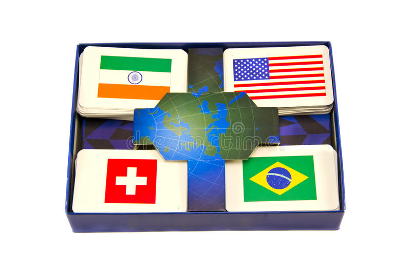 Download Various World Country Flags Cards Box Isolated Stock Photo - Image: 28071714