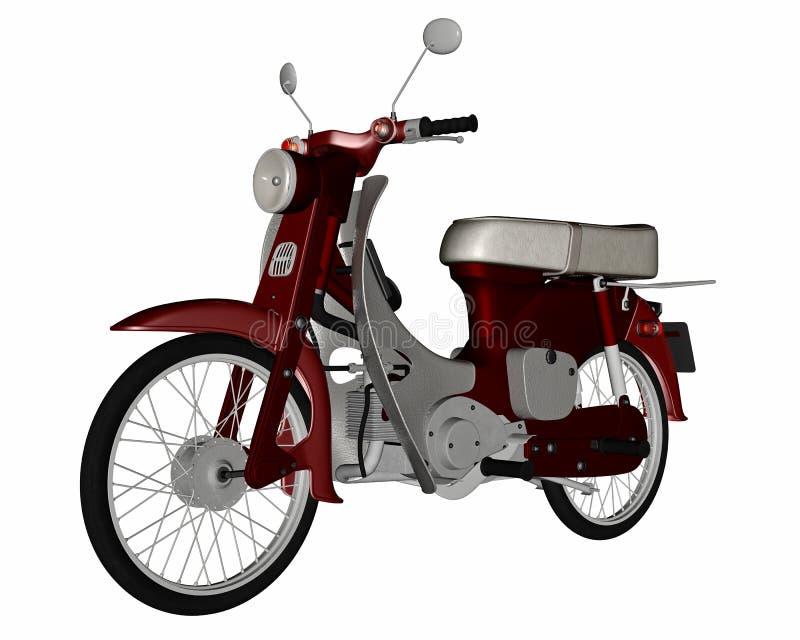 Varit nedstämd sparkcykel - 3D framför vektor illustrationer