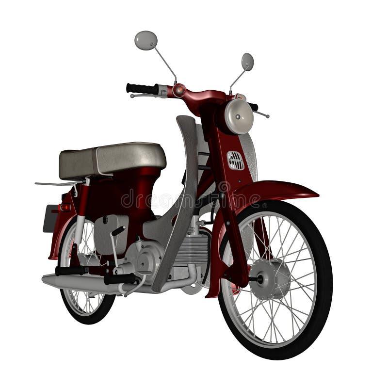 Varit nedstämd sparkcykel - 3D framför stock illustrationer