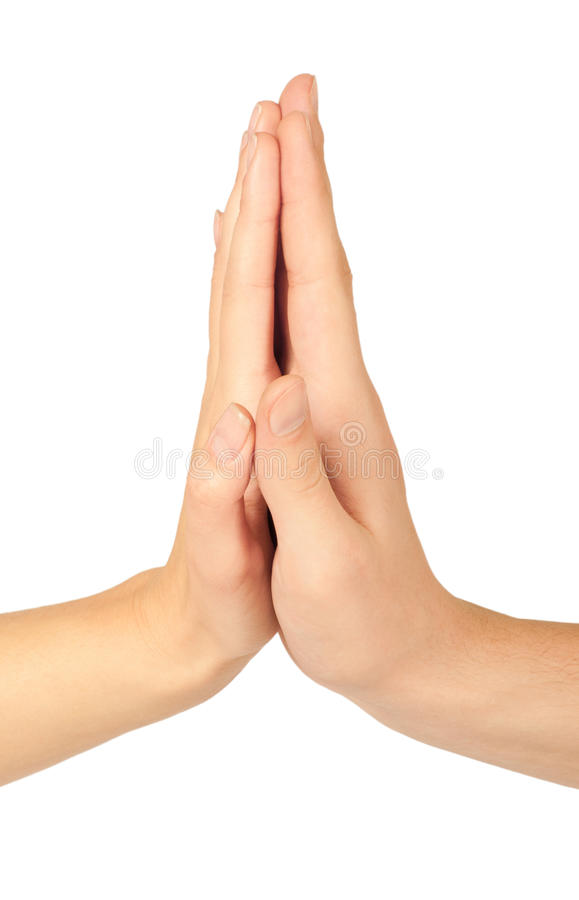 varje fem geende händer high andra två royaltyfri fotografi