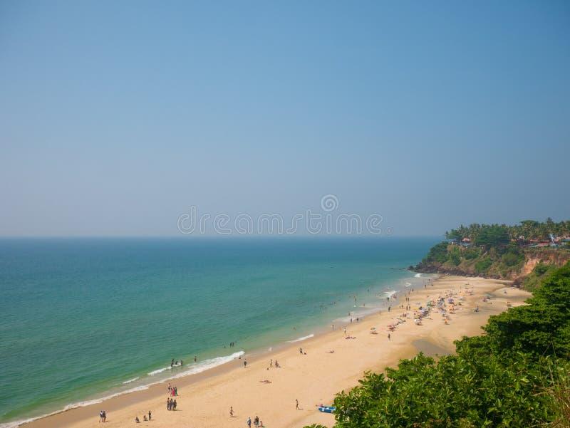 Varkala plaża, Kerala, India zdjęcie royalty free