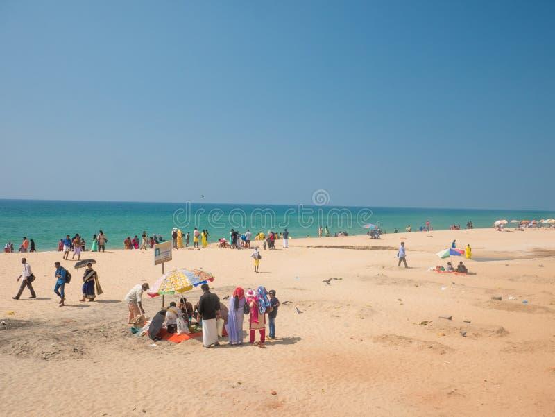 Varkala plaża, Kerala, India obrazy royalty free