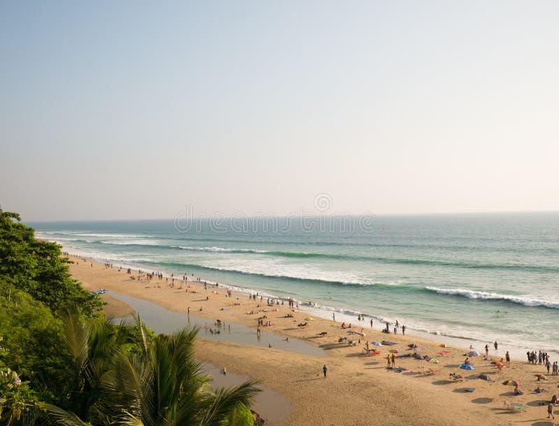 Varkala plaża, Kerala, India fotografia royalty free