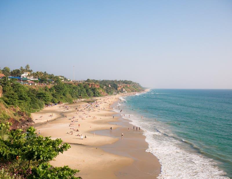 Varkala plaża, Kerala, India obraz stock