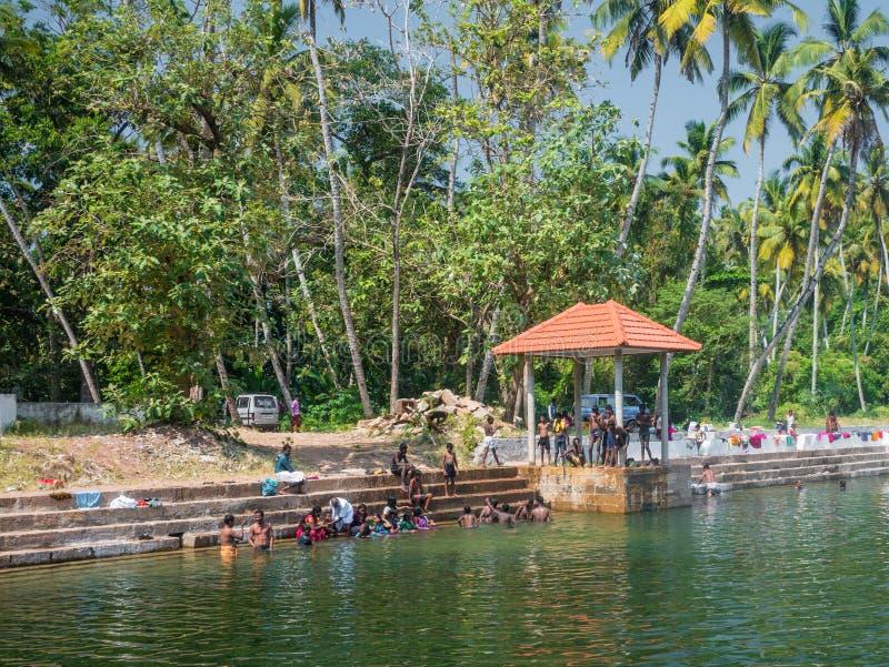 Varkala stary dobrze, Kerala, India zdjęcia stock