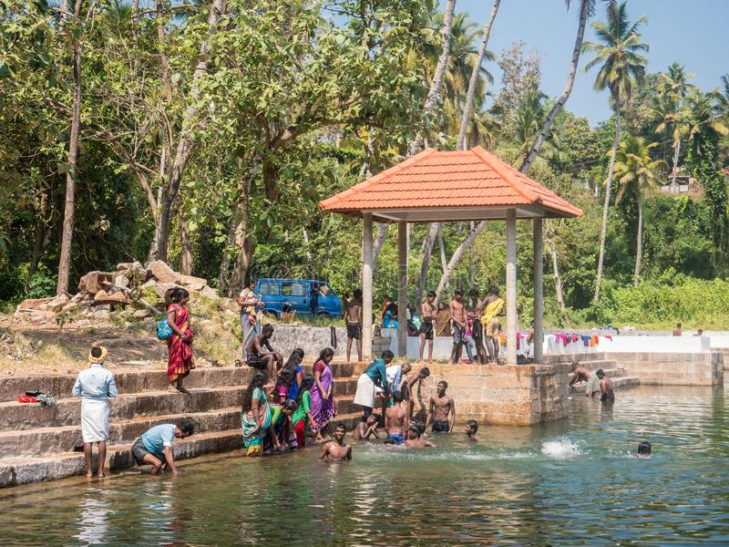 Varkala stary dobrze, Kerala, India zdjęcie royalty free