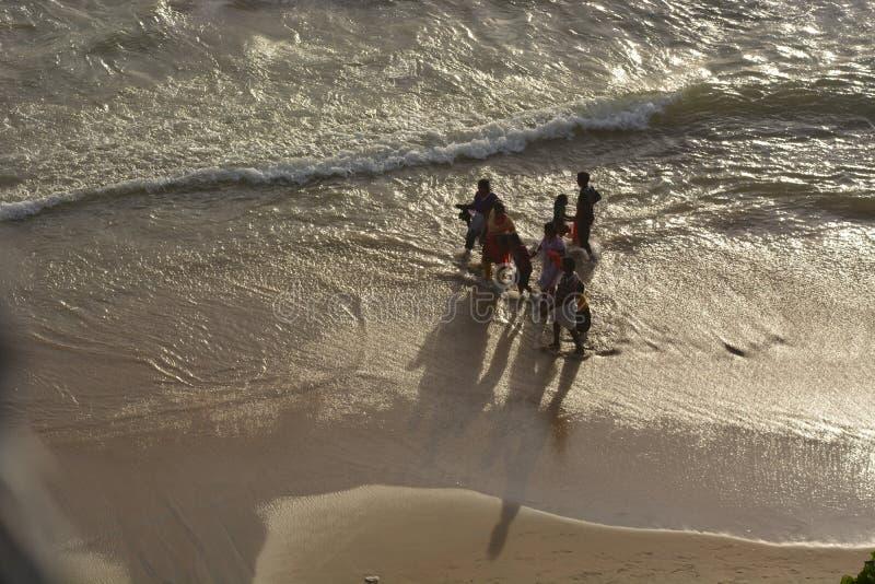 Varkala strand royaltyfri bild