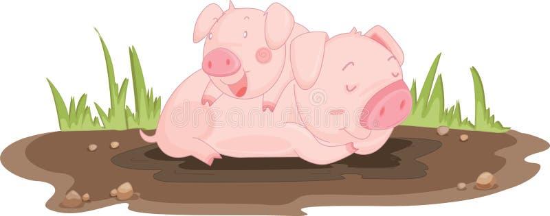 Varkens stock illustratie