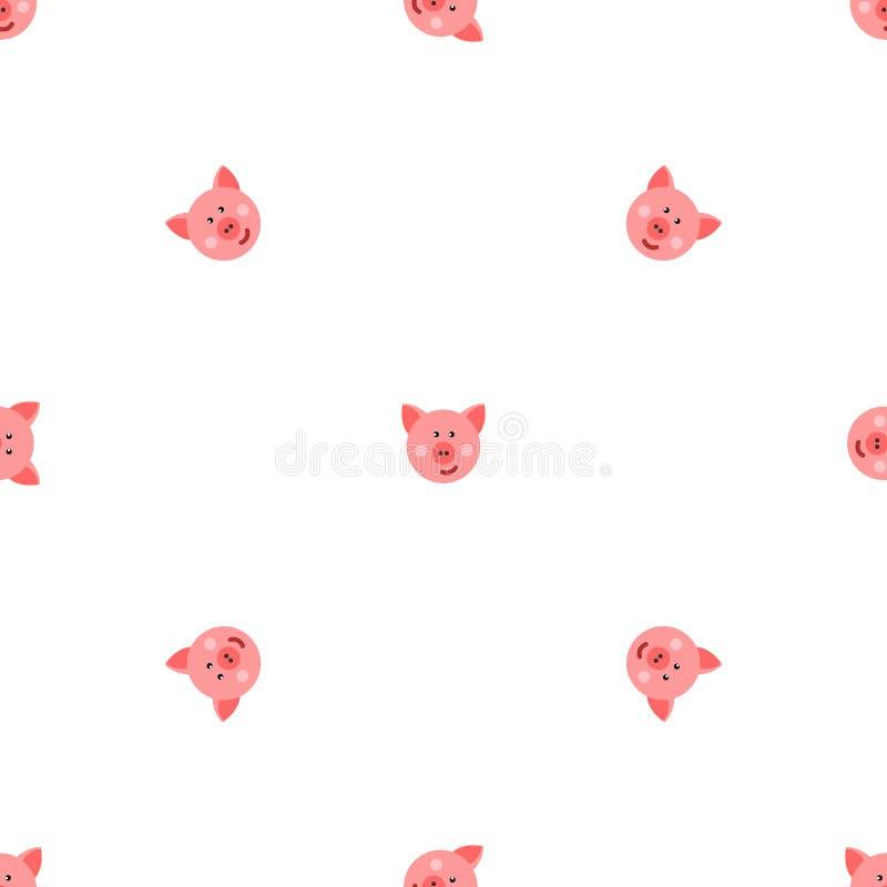 Varkens naadloos patroon vector illustratie