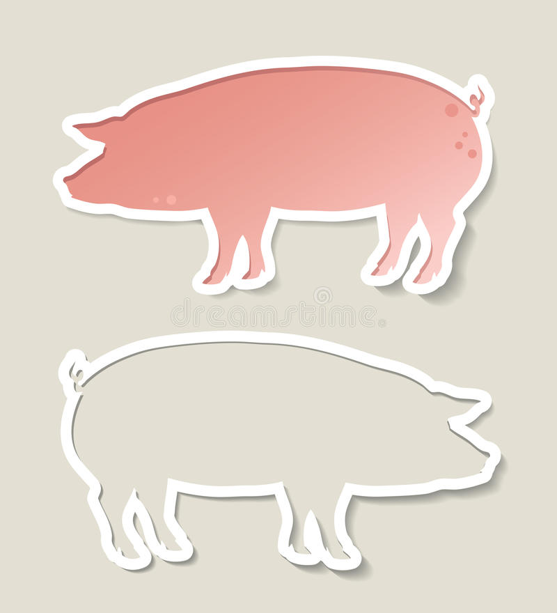 Varkensbanner stock illustratie