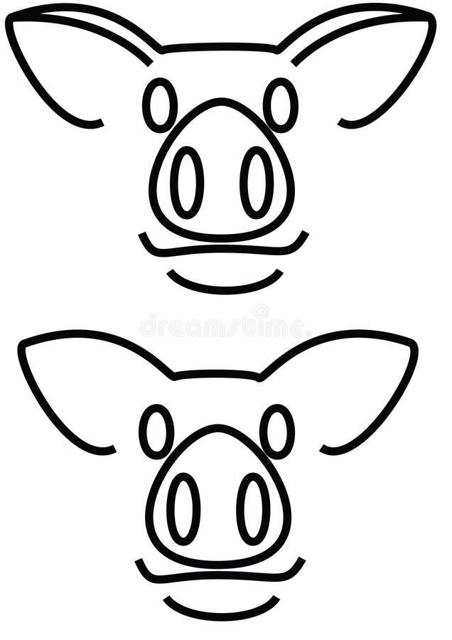 Varkenshoofden royalty-vrije illustratie