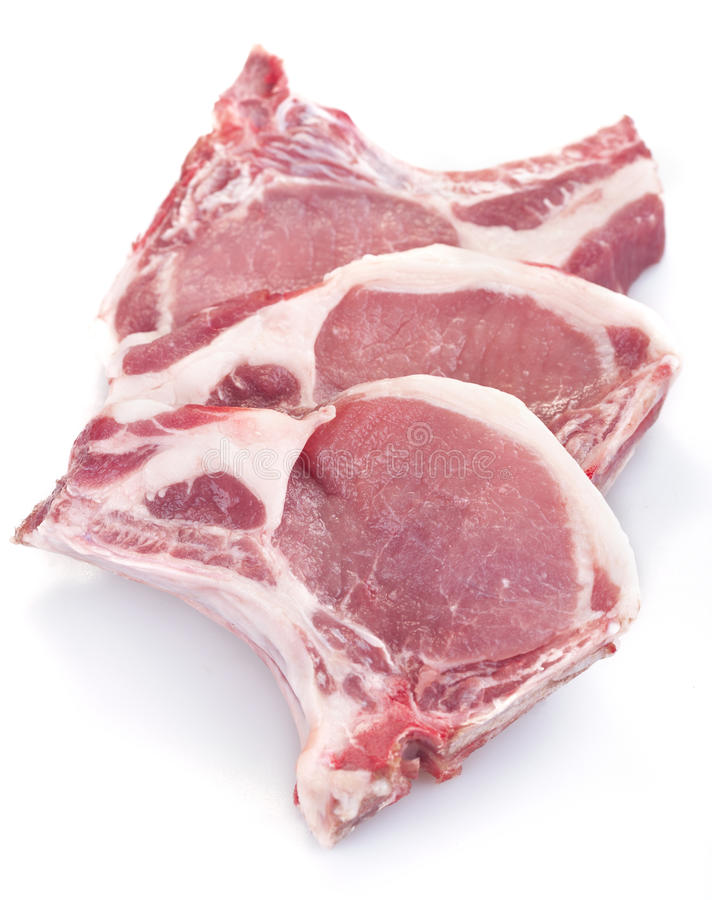Varkenskoteletten stock fotografie