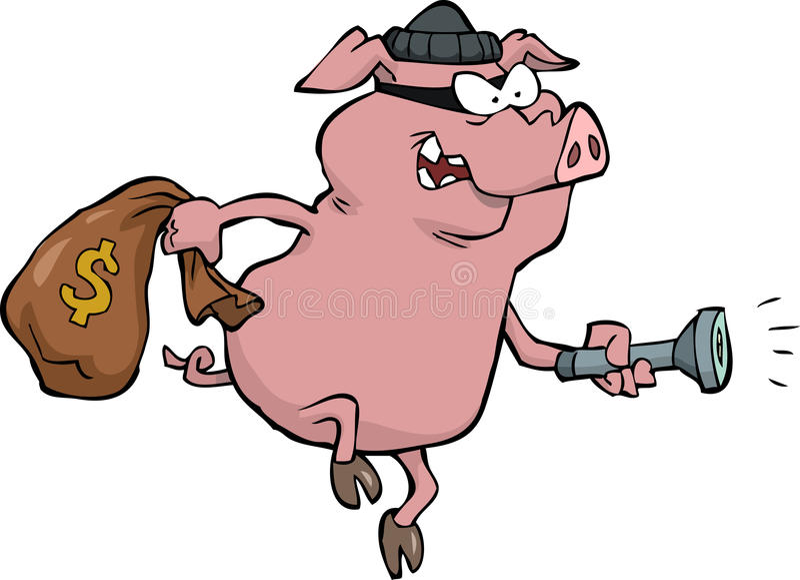 Varkensrover stock illustratie