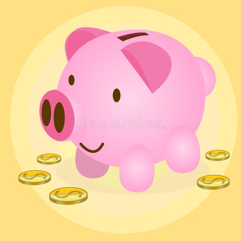 Varkensspaarpot royalty-vrije illustratie