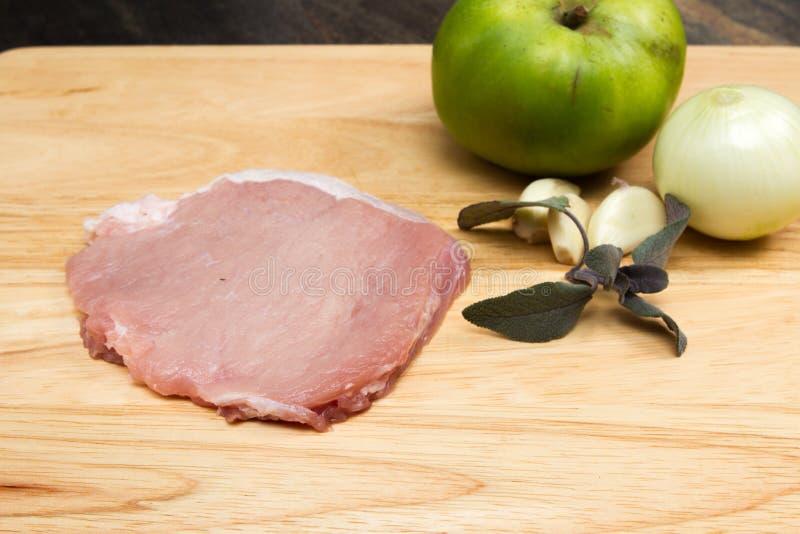 Varkensvlees escalope stock foto's