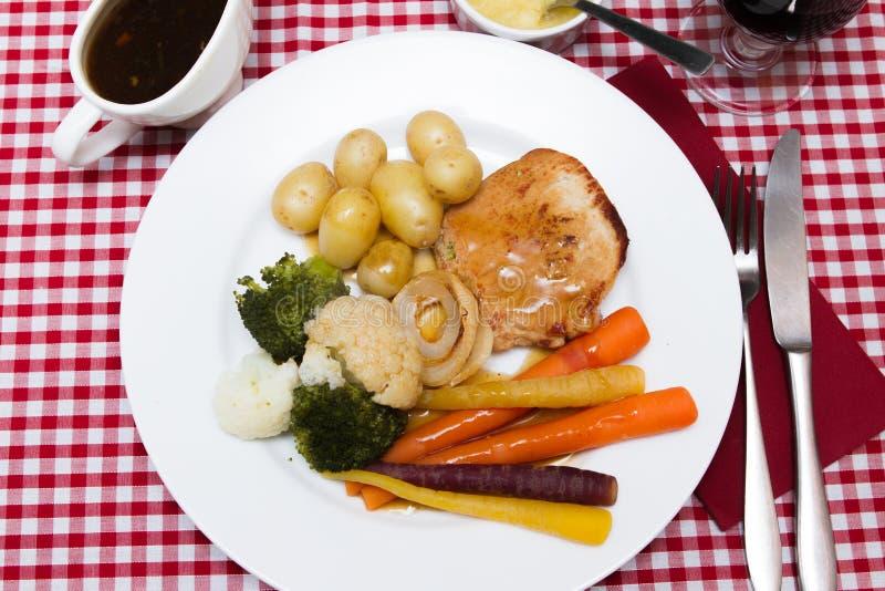 Varkensvlees escalope royalty-vrije stock afbeeldingen