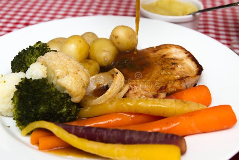 Varkensvlees escalope stock afbeelding