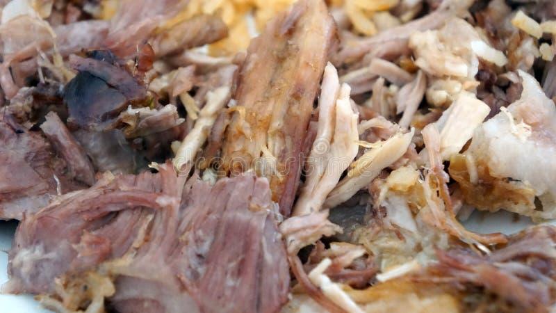 Varkensvlees, gekookt in olie gekookt royalty-vrije stock fotografie