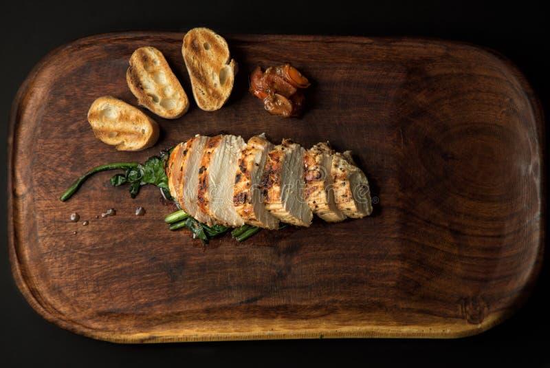 Varkensvlees met bataat royalty-vrije stock fotografie