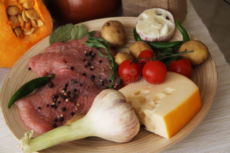 Varkensvlees ruw voor kruidige schotel royalty-vrije stock fotografie