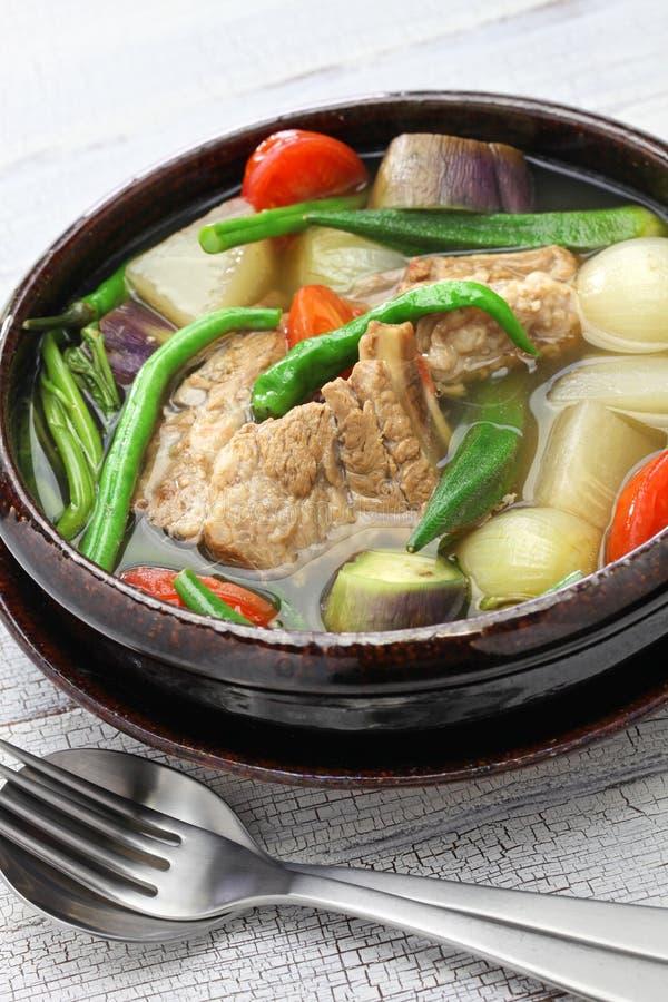 Varkensvlees sinigang, Filipijnse keuken royalty-vrije stock foto's