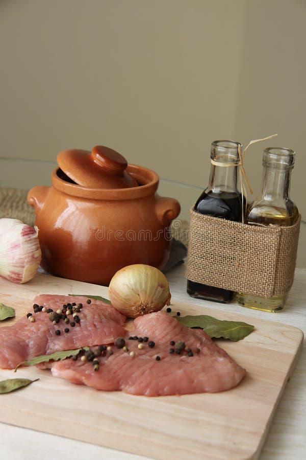 Varkensvleeshutspot stock foto's