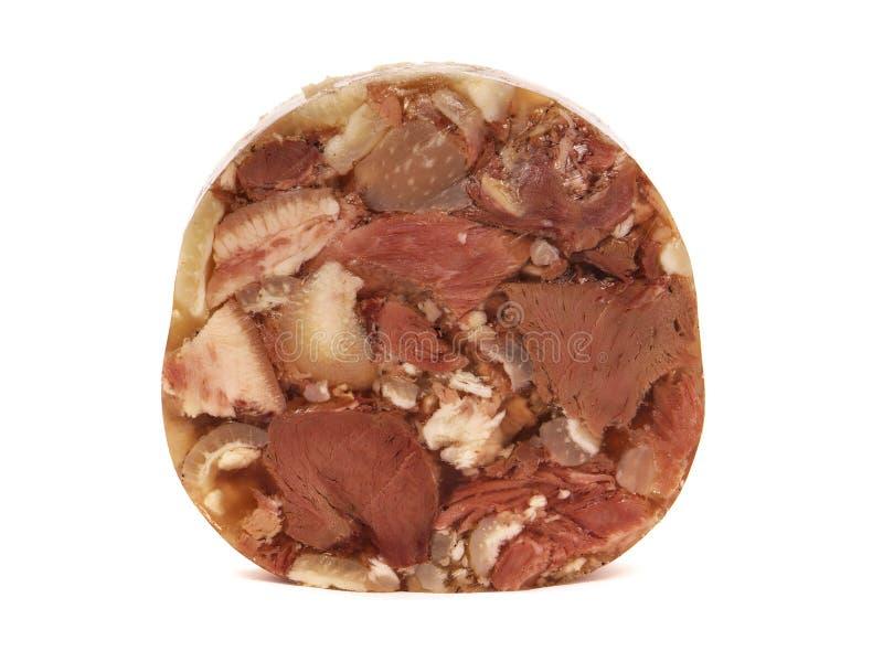 Varkensvleesvlees in aspic stock foto's