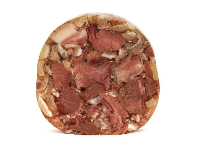 Varkensvleesvlees in aspic royalty-vrije stock foto