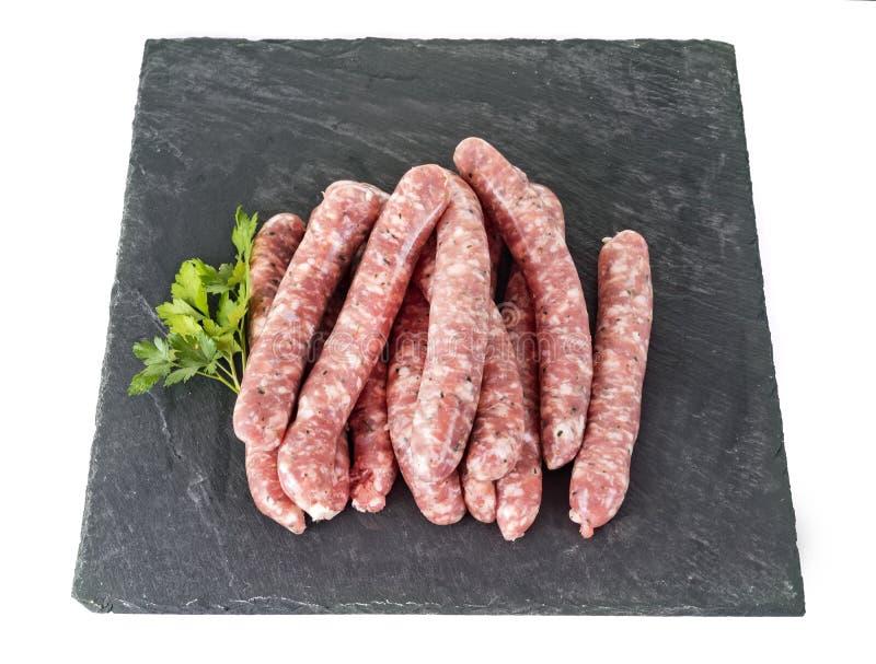 Varkensvleesworsten in studio stock foto's